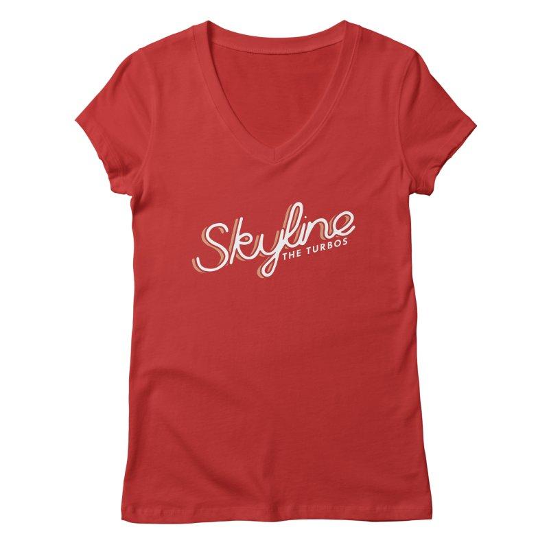 Skyline Women's Regular V-Neck by The Turbos Merch Stand