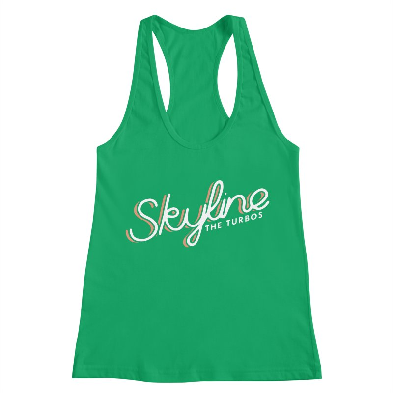 Skyline Women's Racerback Tank by The Turbos Merch Stand