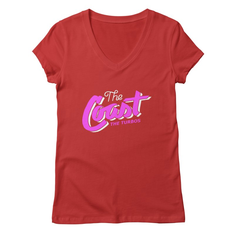 The Coast Women's Regular V-Neck by The Turbos Merch Stand