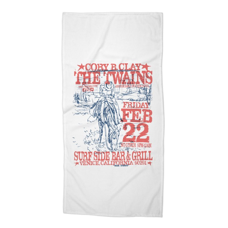 Twains Surfside On the Trail Accessories Beach Towel by The Twains' Artist Shop