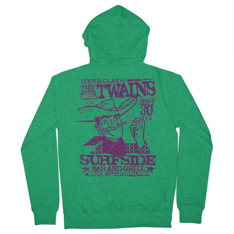 Twains Surfside Smoking Cowboy Women's Zip-Up Hoody by The Twains' Artist Shop