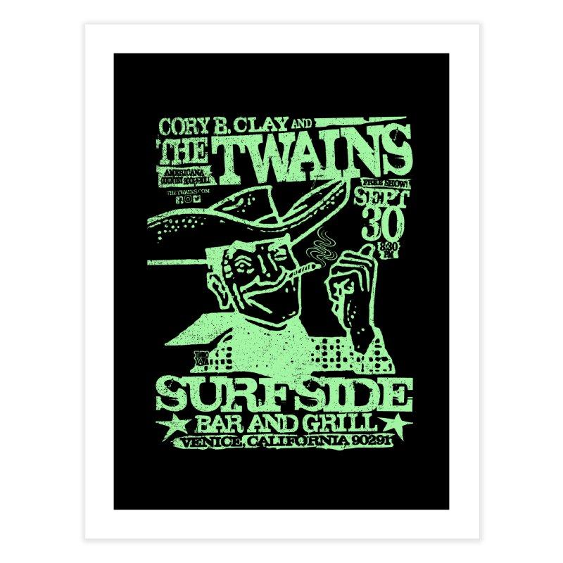 Twains Surfside Smoking Cowboy Too Home Fine Art Print by The Twains' Artist Shop