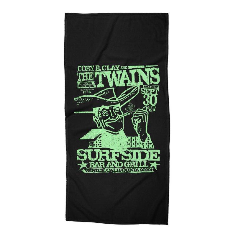 Twains Surfside Smoking Cowboy Too Accessories Beach Towel by The Twains' Artist Shop