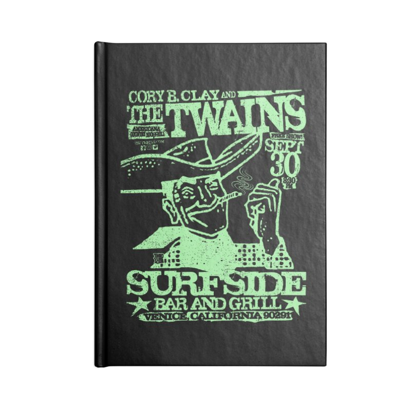 Twains Surfside Smoking Cowboy Too Accessories Notebook by The Twains' Artist Shop