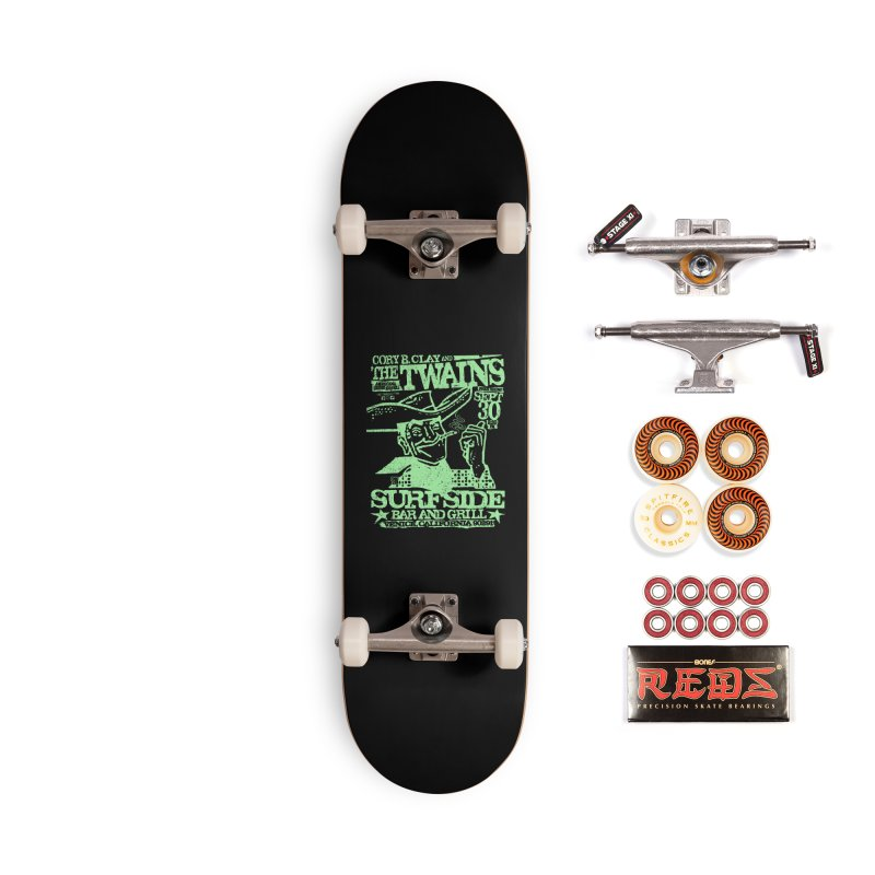 Twains Surfside Smoking Cowboy Too Accessories Skateboard by The Twains' Artist Shop