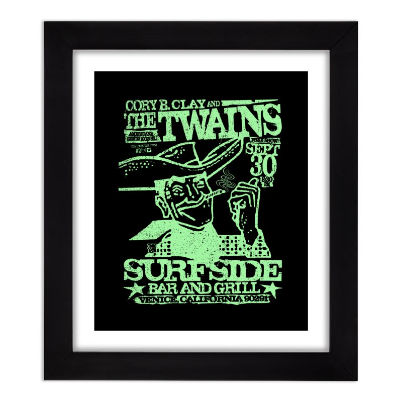 Twains Surfside Smoking Cowboy Too Home Framed Fine Art Print by The Twains' Artist Shop