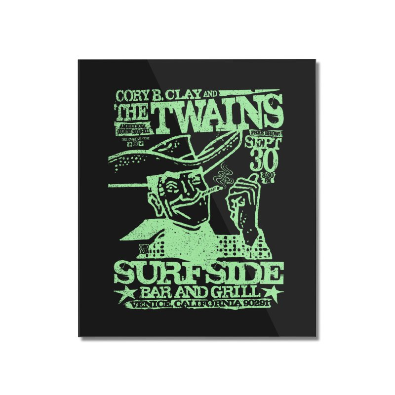 Twains Surfside Smoking Cowboy Too Home Mounted Acrylic Print by The Twains' Artist Shop