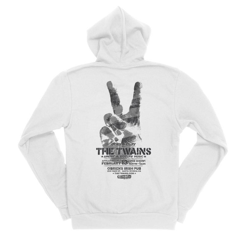 Twains Peace & Music Men's Zip-Up Hoody by The Twains' Artist Shop