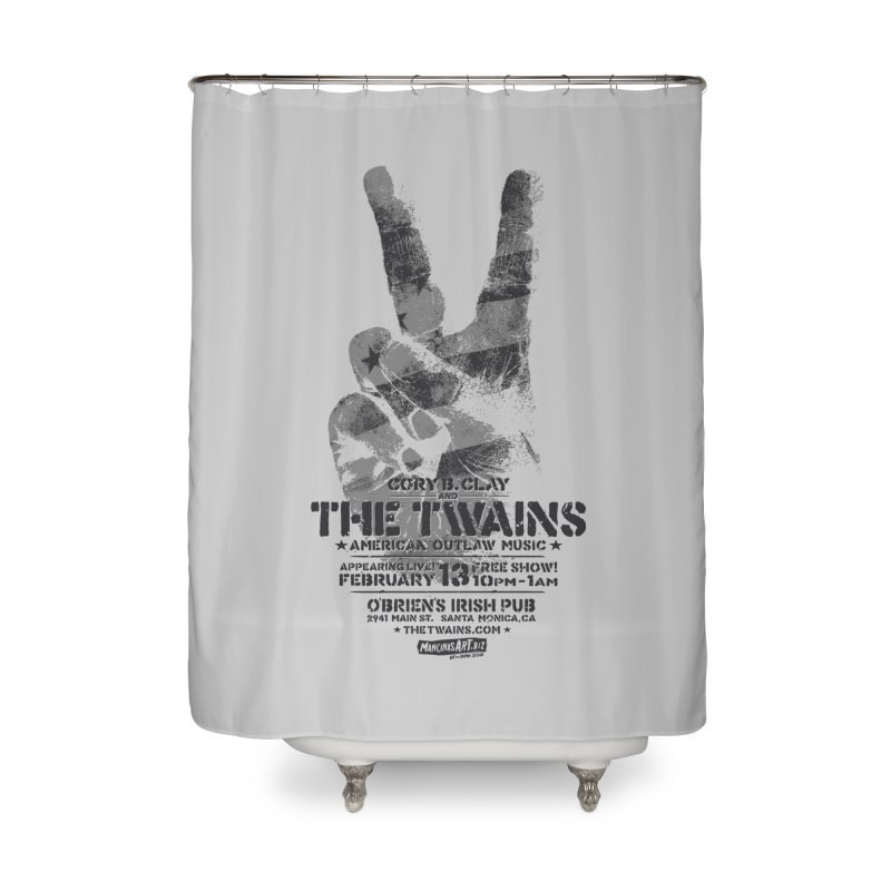 Twains Peace & Music Home Shower Curtain by The Twains' Artist Shop