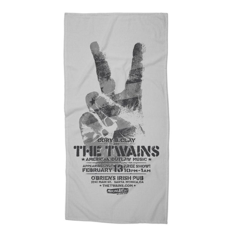 Twains Peace & Music Accessories Beach Towel by The Twains' Artist Shop