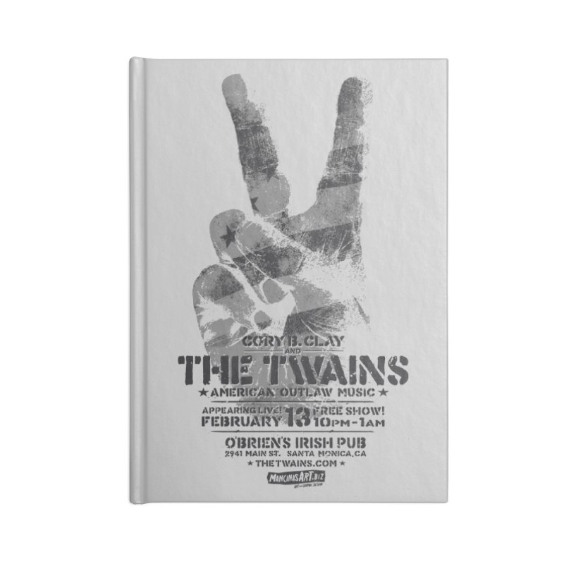 Twains Peace & Music Accessories Notebook by The Twains' Artist Shop