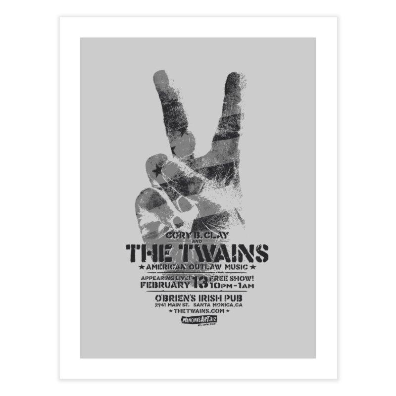 Twains Peace & Music Home Fine Art Print by The Twains' Artist Shop