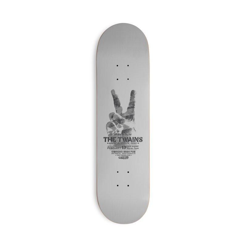 Twains Peace & Music Accessories Skateboard by The Twains' Artist Shop