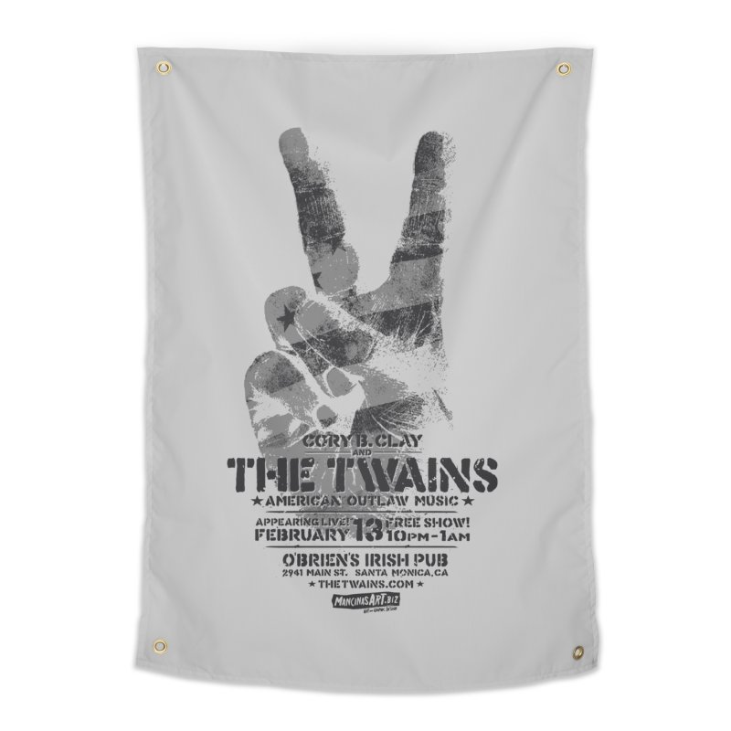Twains Peace & Music Home Tapestry by The Twains' Artist Shop