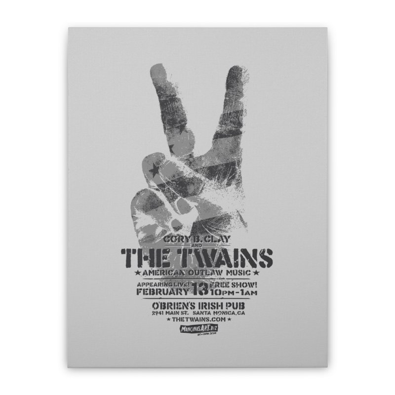 Twains Peace & Music Home Stretched Canvas by The Twains' Artist Shop