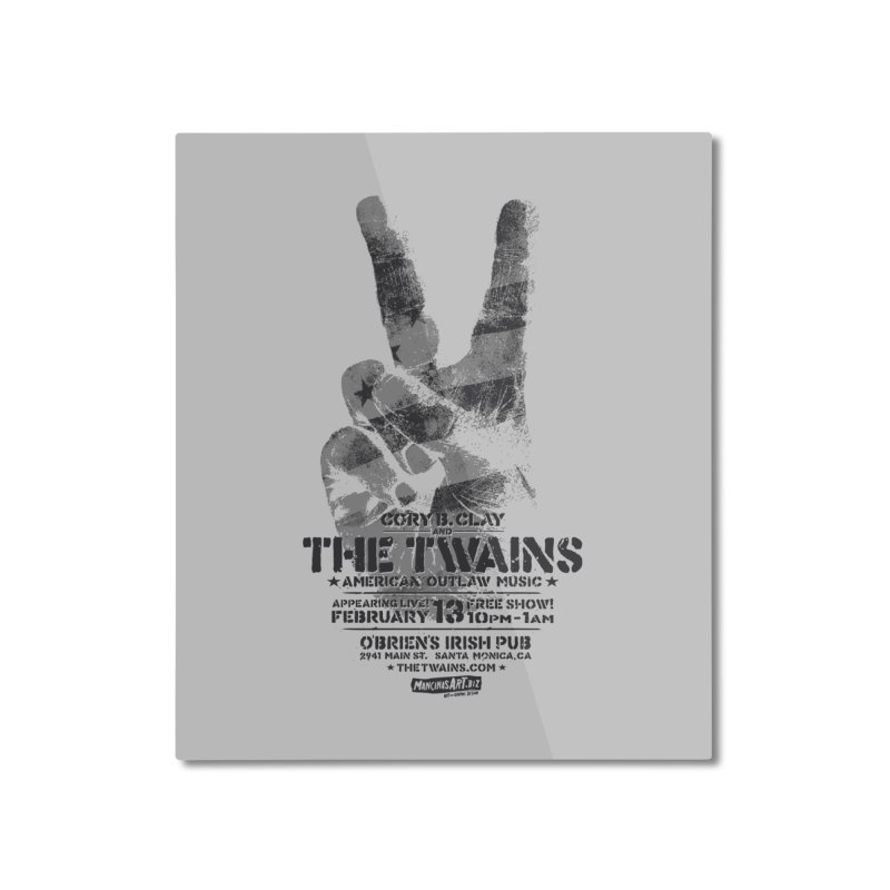 Twains Peace & Music Home Mounted Aluminum Print by The Twains' Artist Shop