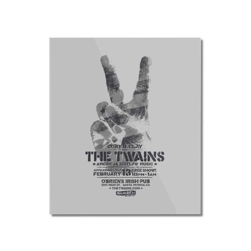 Twains Peace & Music Home Mounted Acrylic Print by The Twains' Artist Shop