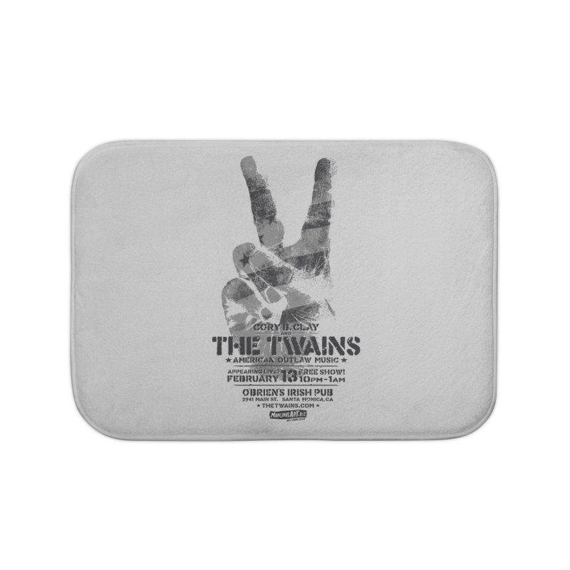 Twains Peace & Music Home Bath Mat by The Twains' Artist Shop