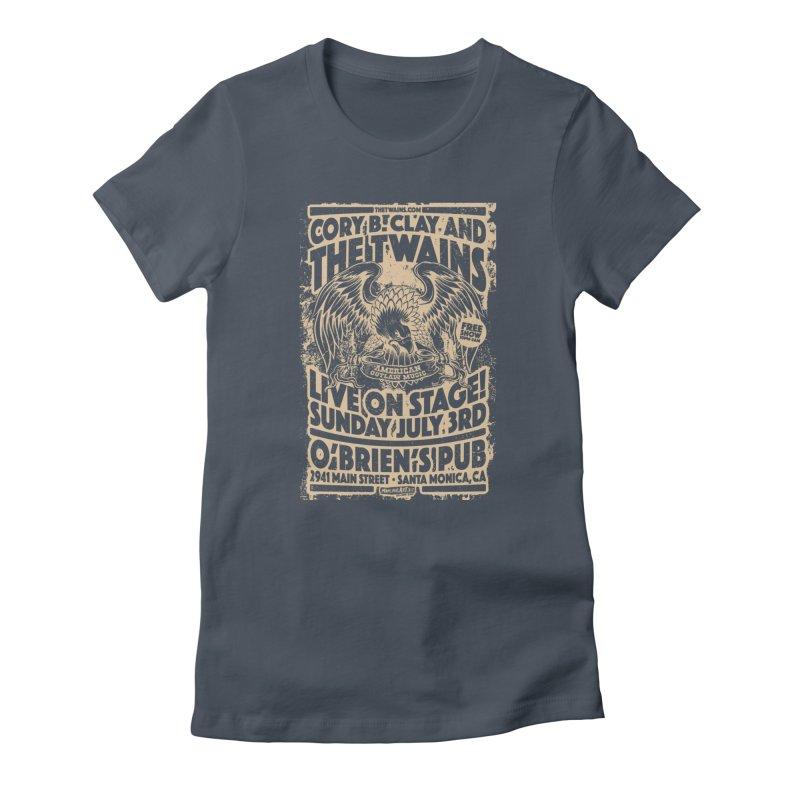 Twains O'Brien's Pub Screaming Eagle Women's T-Shirt by The Twains' Artist Shop