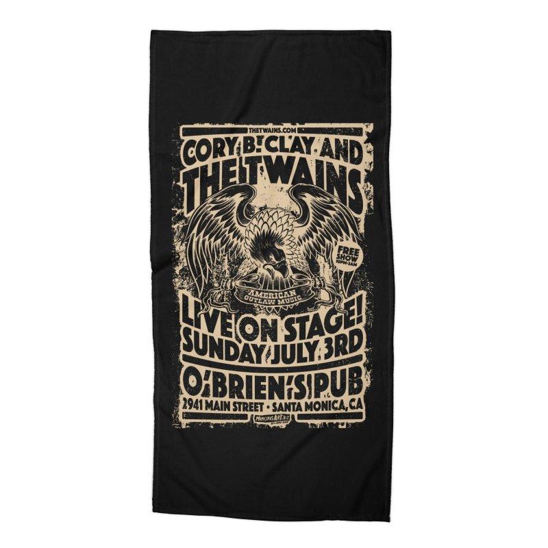 Twains O'Brien's Pub Screaming Eagle Accessories Beach Towel by The Twains' Artist Shop