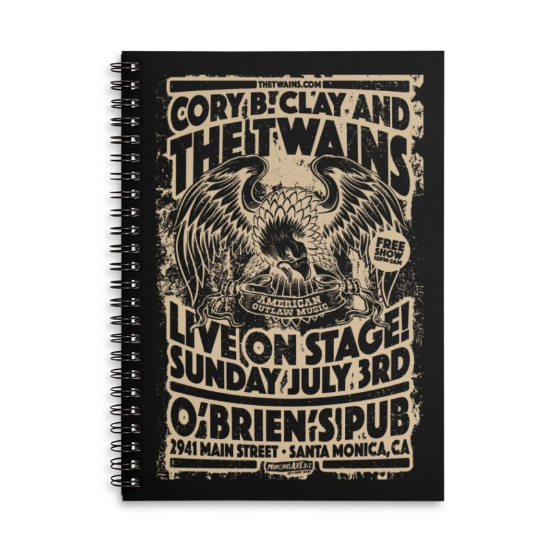 Twains O'Brien's Pub Screaming Eagle Accessories Notebook by The Twains' Artist Shop