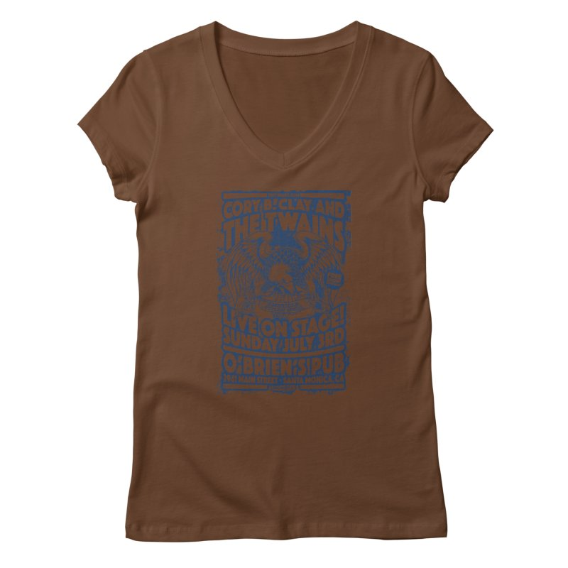 Twains Screaming Eagle Two Women's V-Neck by The Twains' Artist Shop