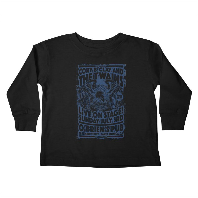 Twains Screaming Eagle Two Kids Toddler Longsleeve T-Shirt by The Twains' Artist Shop