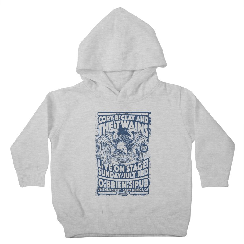 Twains Screaming Eagle Two Kids Toddler Pullover Hoody by The Twains' Artist Shop