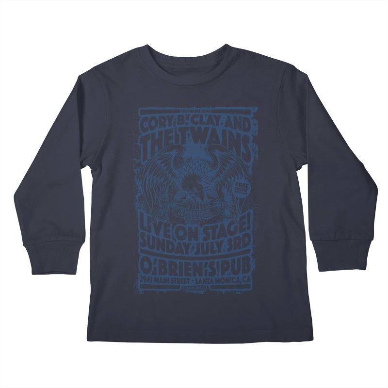 Twains Screaming Eagle Two Kids Longsleeve T-Shirt by The Twains' Artist Shop