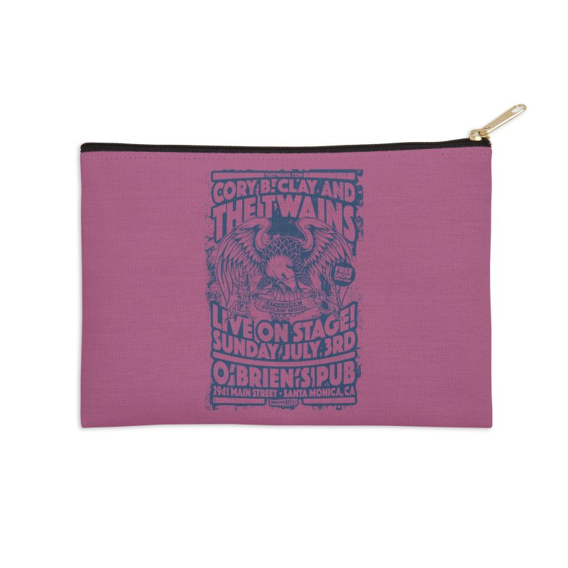 Twains Screaming Eagle Two Accessories Zip Pouch by The Twains' Artist Shop