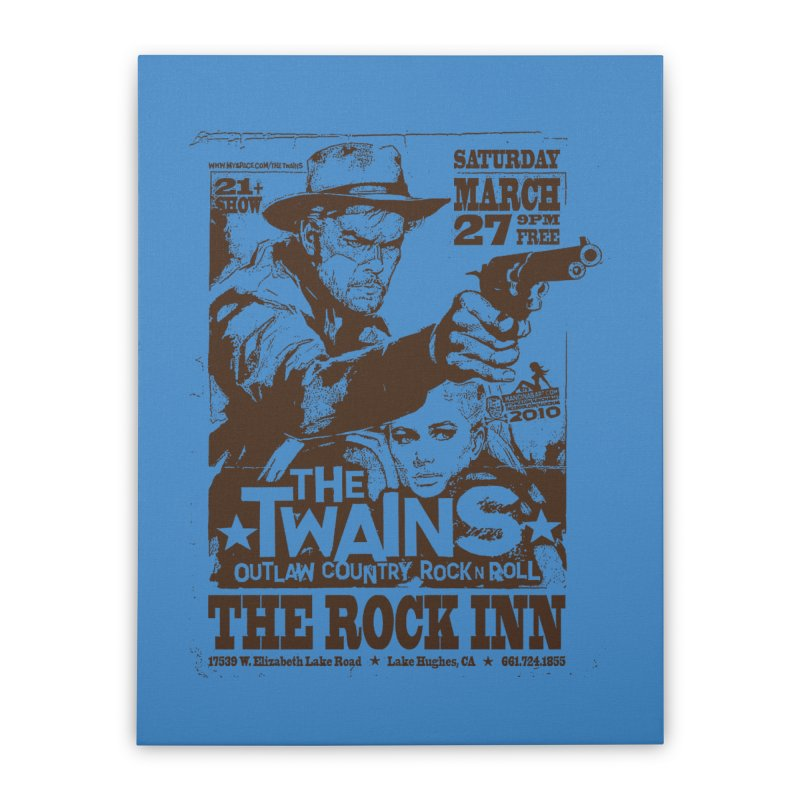 The Twains Rock Inn Home Stretched Canvas by The Twains' Artist Shop