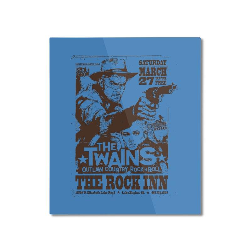 The Twains Rock Inn Home Mounted Aluminum Print by The Twains' Artist Shop