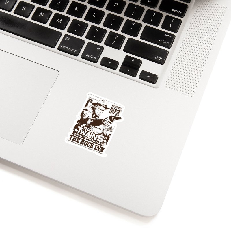 The Twains Rock Inn Accessories Sticker by The Twains' Artist Shop