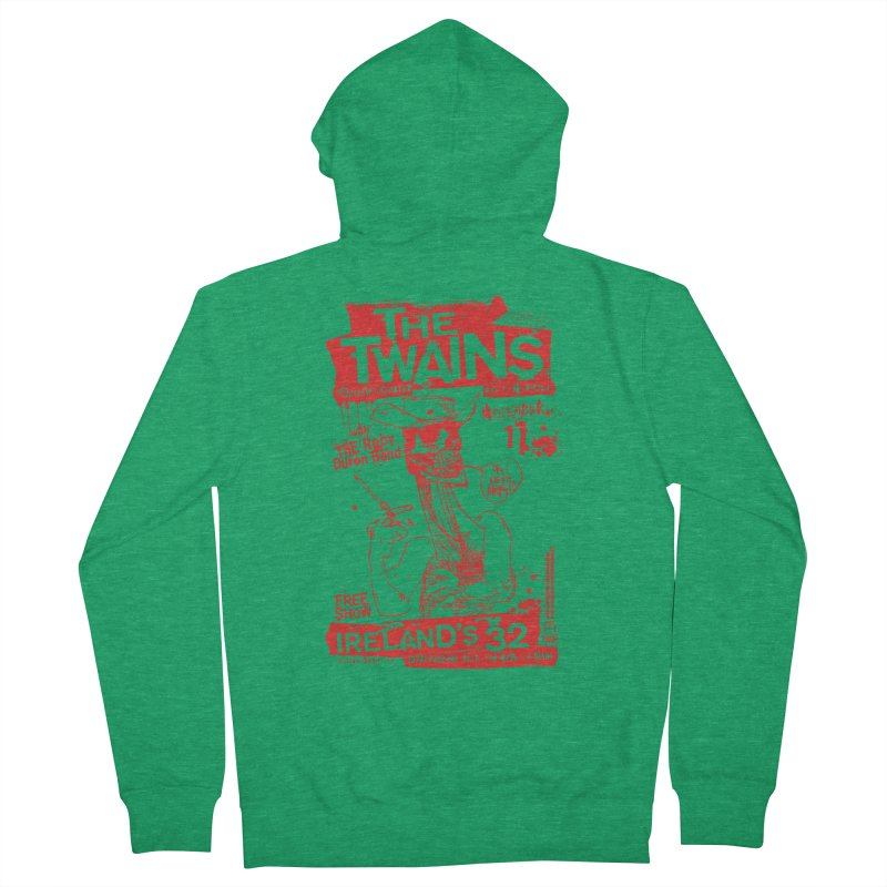 Ireland 32s Gonzo Party Men's Zip-Up Hoody by The Twains' Artist Shop