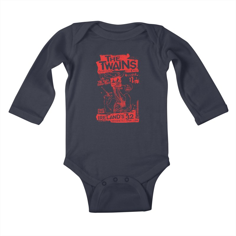 Ireland 32s Gonzo Party Kids Baby Longsleeve Bodysuit by The Twains' Artist Shop