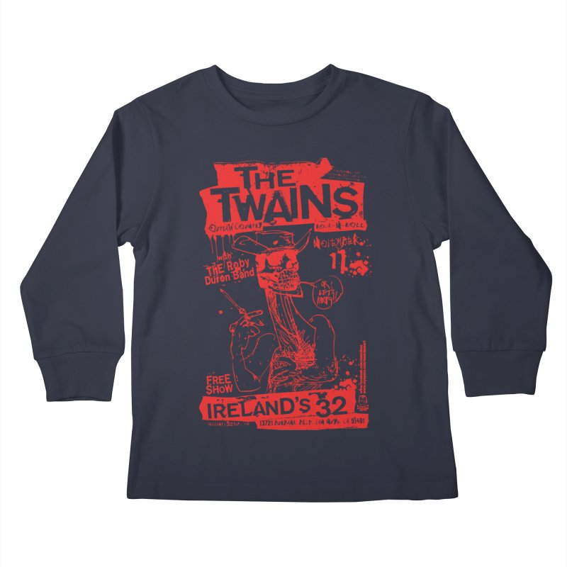 Ireland 32s Gonzo Party Kids Longsleeve T-Shirt by The Twains' Artist Shop