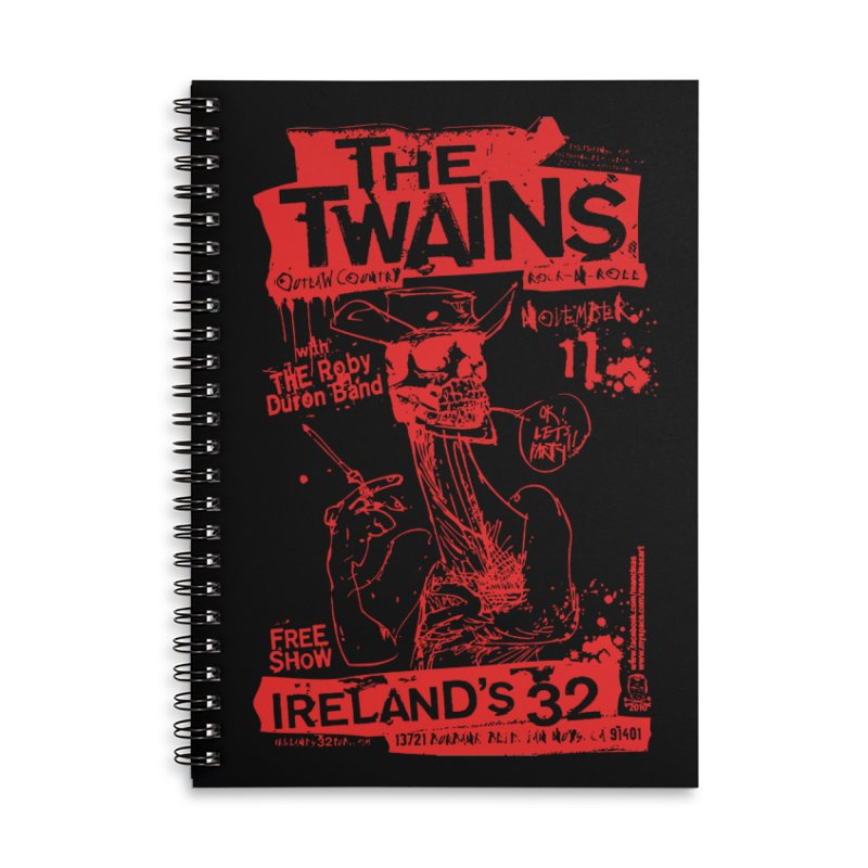 Ireland 32s Gonzo Party Accessories Notebook by The Twains' Artist Shop