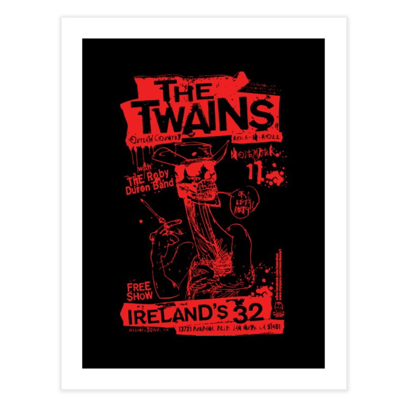 Ireland 32s Gonzo Party Home Fine Art Print by The Twains' Artist Shop