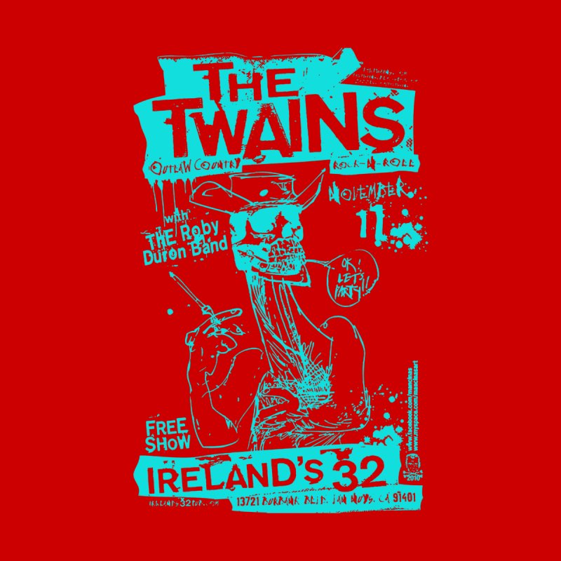Ireland 32s Gonzo Party Two Men's T-Shirt by The Twains' Artist Shop