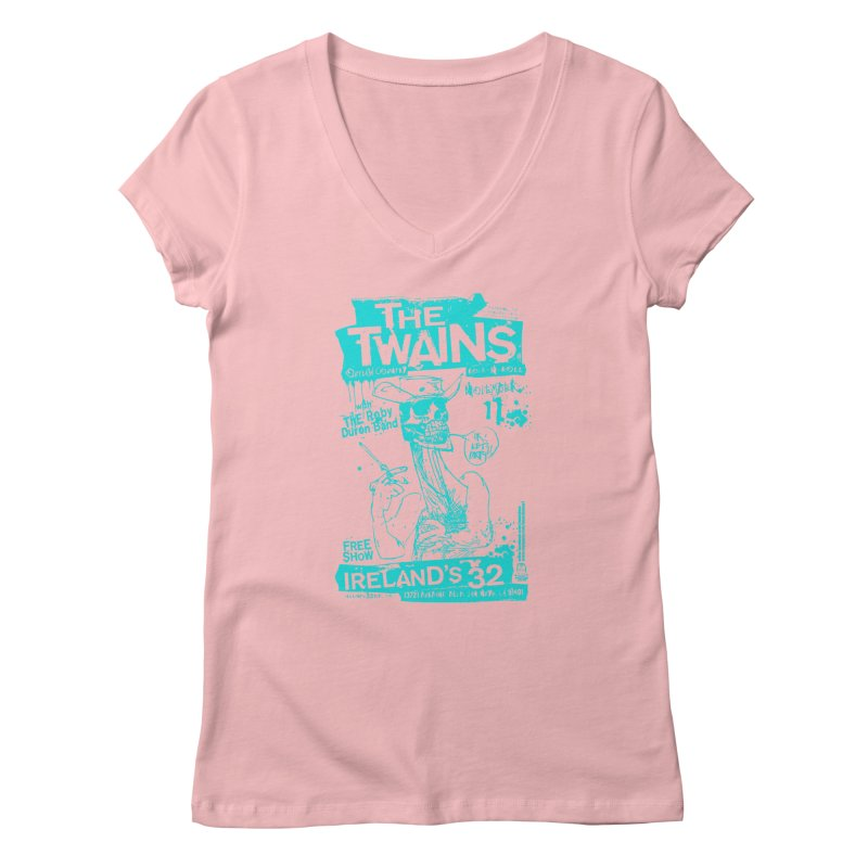Ireland 32s Gonzo Party Two Women's V-Neck by The Twains' Artist Shop
