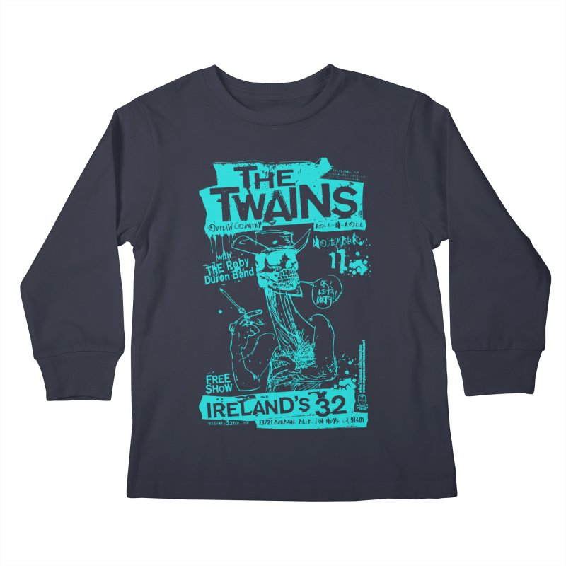 Ireland 32s Gonzo Party Two Kids Longsleeve T-Shirt by The Twains' Artist Shop