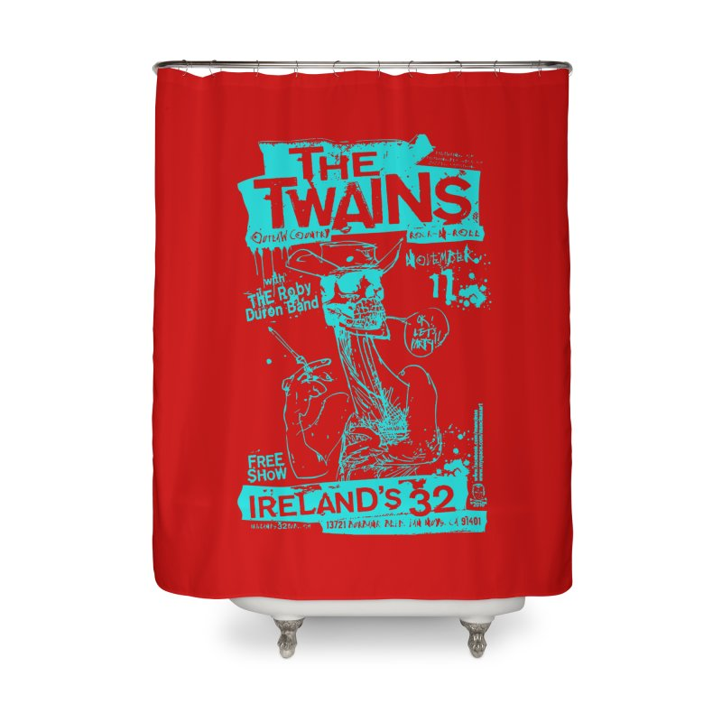 Ireland 32s Gonzo Party Two Home Shower Curtain by The Twains' Artist Shop