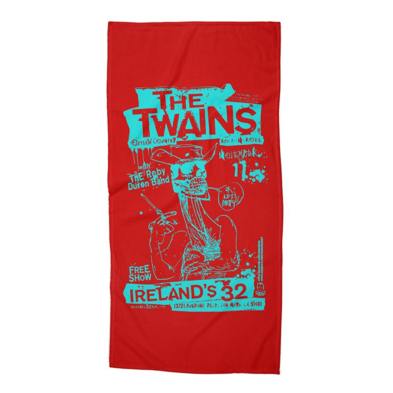 Ireland 32s Gonzo Party Two Accessories Beach Towel by The Twains' Artist Shop