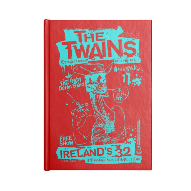 Ireland 32s Gonzo Party Two Accessories Notebook by The Twains' Artist Shop
