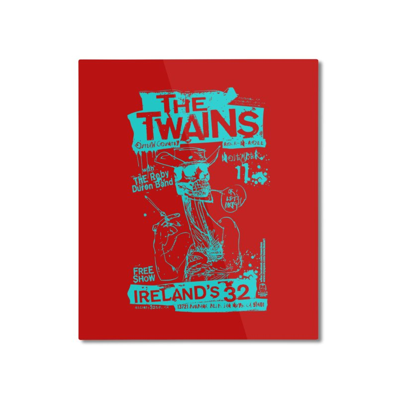 Ireland 32s Gonzo Party Two Home Mounted Aluminum Print by The Twains' Artist Shop