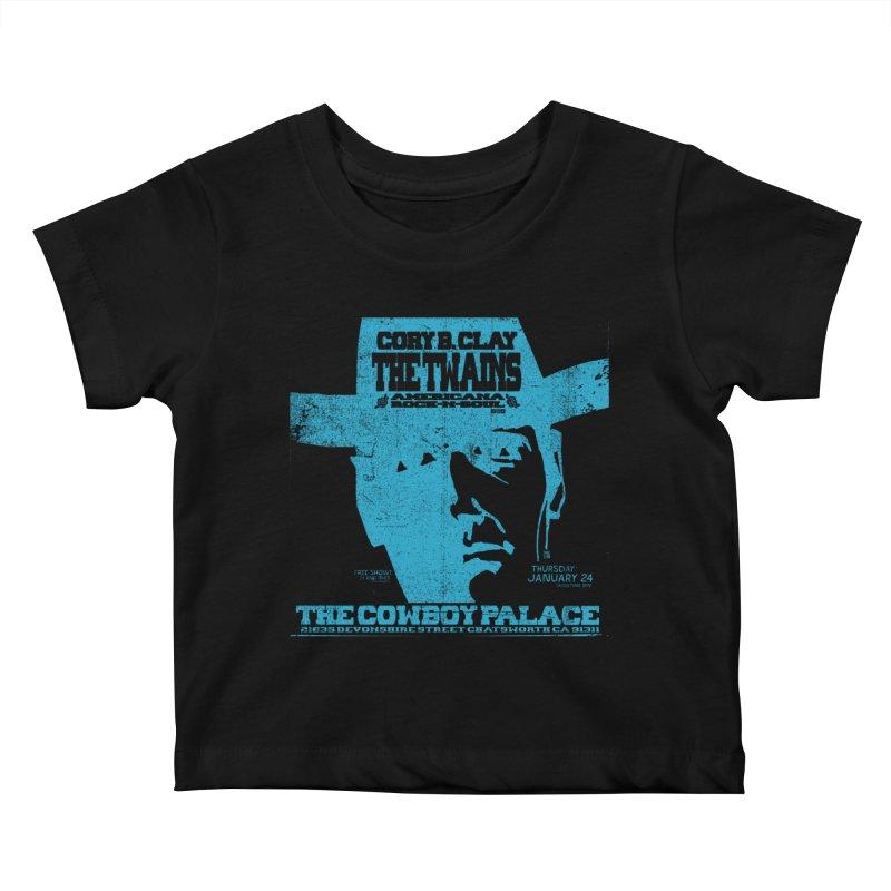 Twains Cowboy Palace Kids Baby T-Shirt by The Twains' Artist Shop