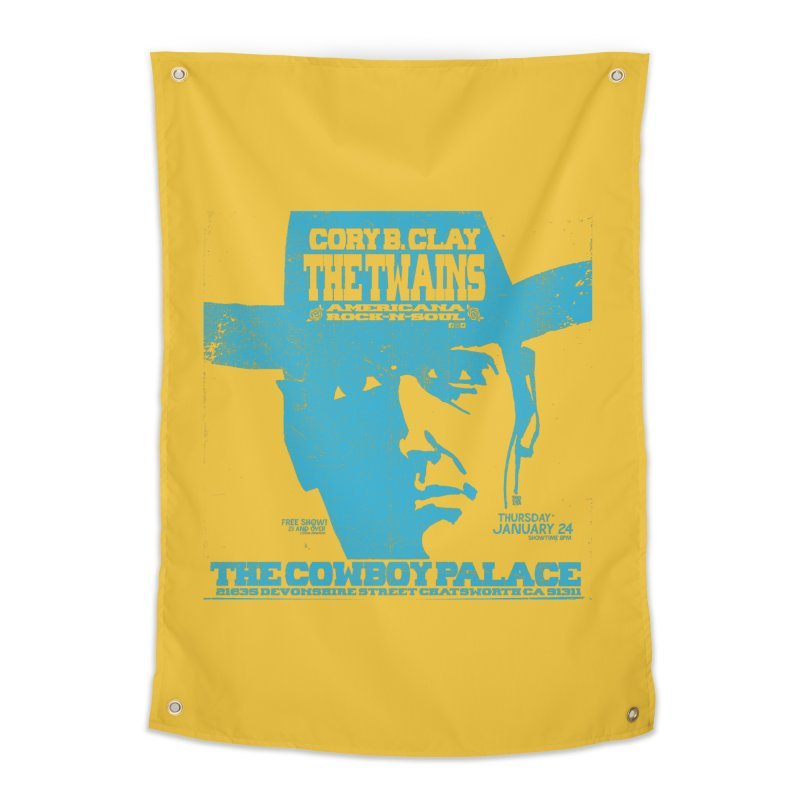 Twains Cowboy Palace Home Tapestry by The Twains' Artist Shop