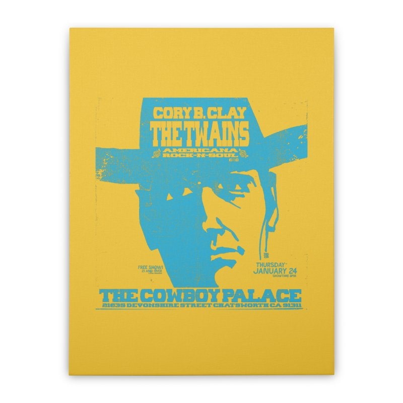 Twains Cowboy Palace Home Stretched Canvas by The Twains' Artist Shop