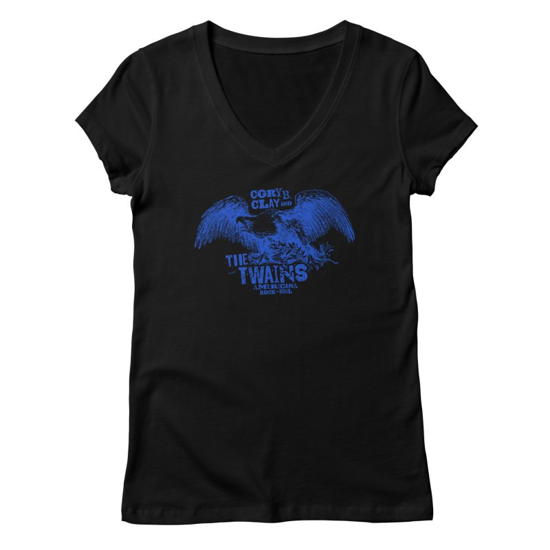 Twains CD American Eagle Women's V-Neck by The Twains' Artist Shop