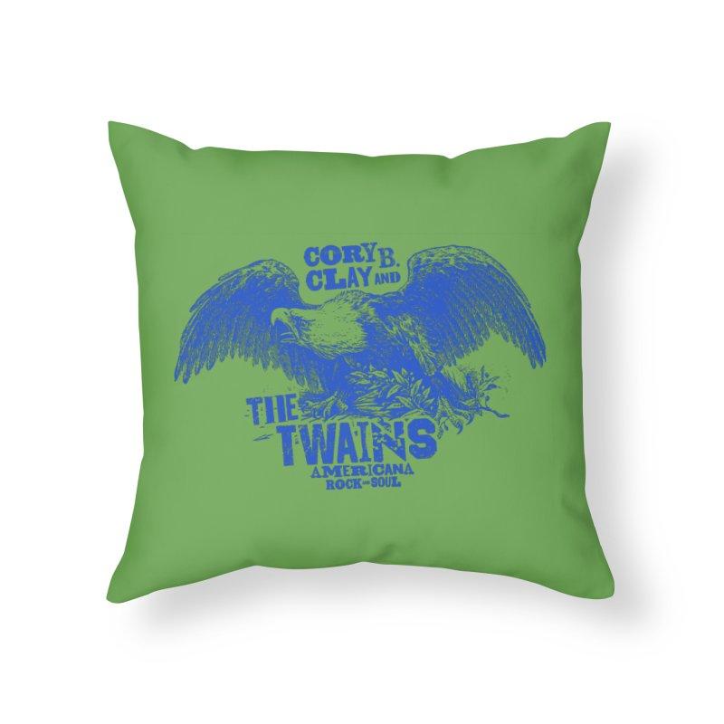 Twains CD American Eagle Home Throw Pillow by The Twains' Artist Shop